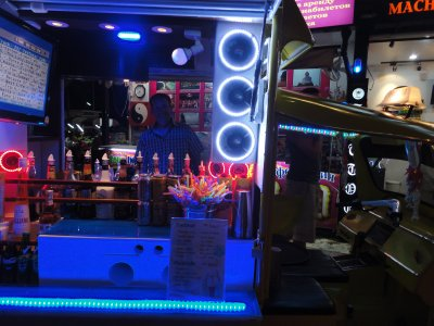 Tuk-tuk cocktail bars. Great idea.
