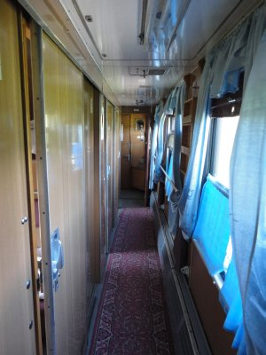 Our compartment corridor