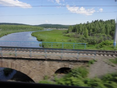 A river crossing somewhere in Siberia