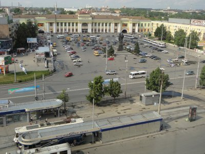 Overlooking Yekaterinburg station