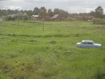 The Lada spotting game becomes too easy in Siberia