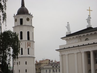 Vilnius Cathedral and 90ft- tall Belfry
