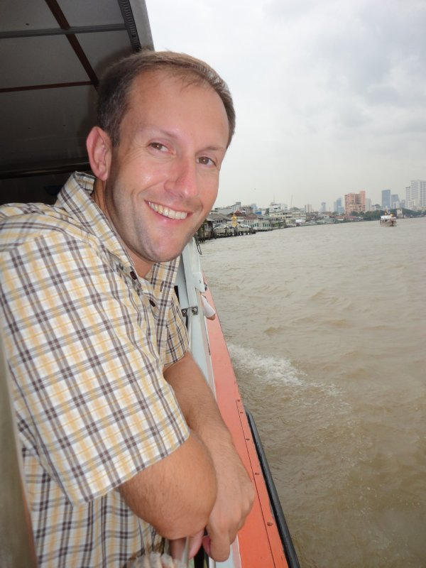 Riding the express ferry on the Chao Phraya