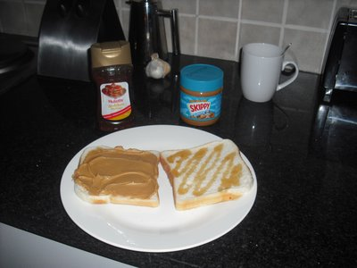 PB&S sandwich, I added much more syrup after tasting!