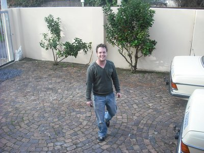 Paul, one of my Dutch house mates in our driveway/entrance area