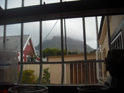 Although it was cloudy this morning, the view from my kitchen window!