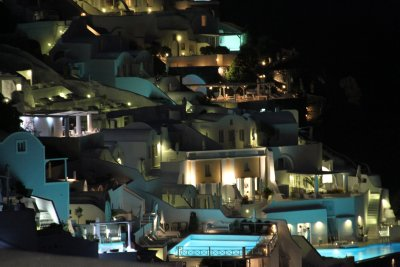 Santorini - Oia by night