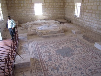 Mosaic floor Mt Nebo