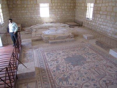 Mosaic floor Mt Nebo