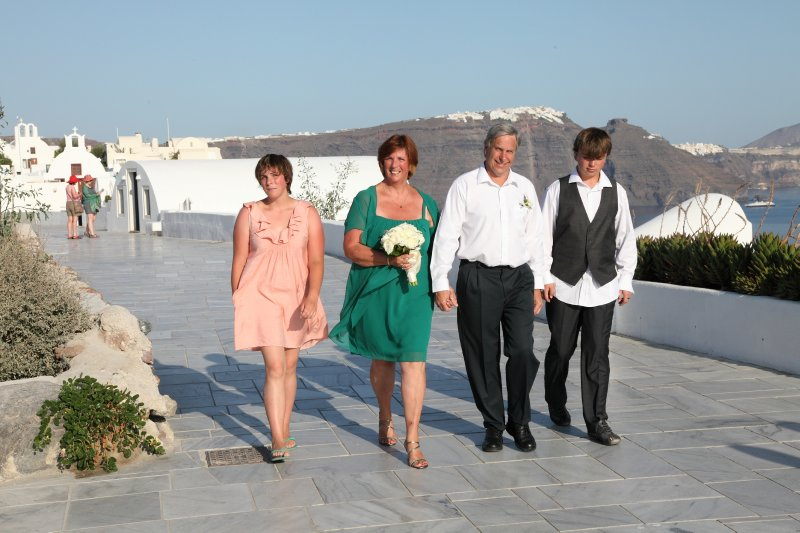 Our Santorini wedding