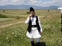 A villager in Dolneni, Prilep, Central Macedonia