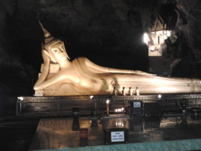 Reclining Buddha in the Monkey Cave
