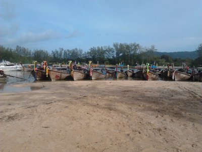 Longtail boats in Ao Nang