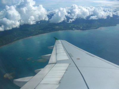 Landing into Puerto Princesa