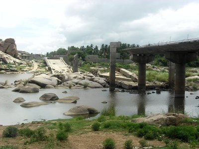 A Collapsed Bridge in Hampi