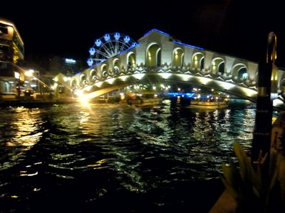 Bridge at Night in Melaka
