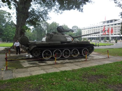 Tank in Reunification Palace in Ho Chi Minh City