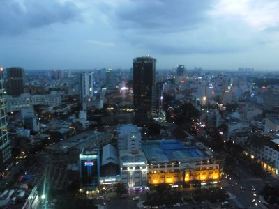 Ho Chi Minh City from the Sheraton Hotel at Dusk