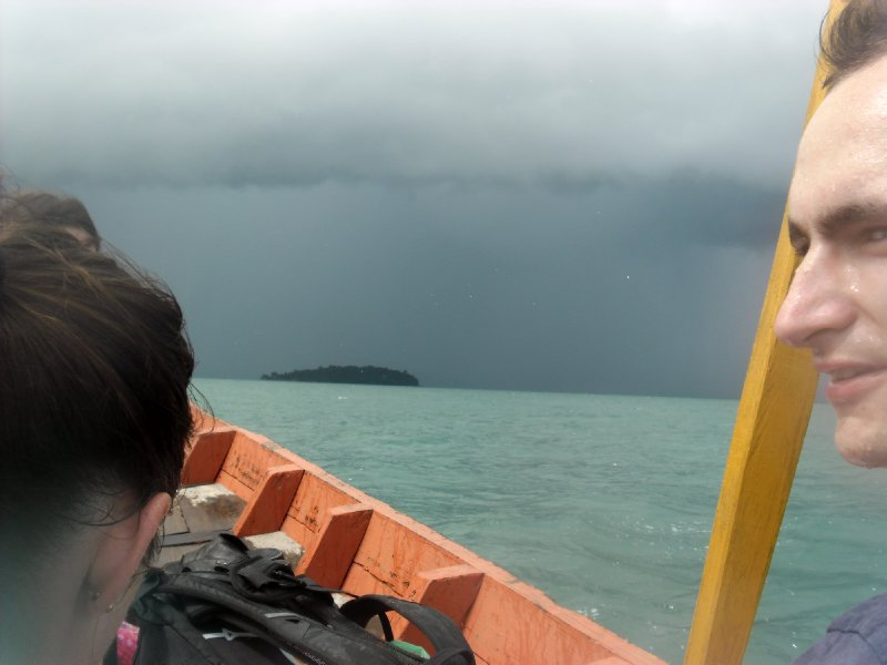 Sailing from Sihanoukville to Koh Russei