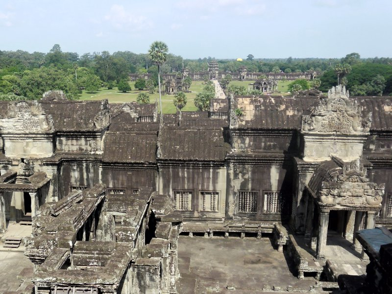View out of Angkor Wat