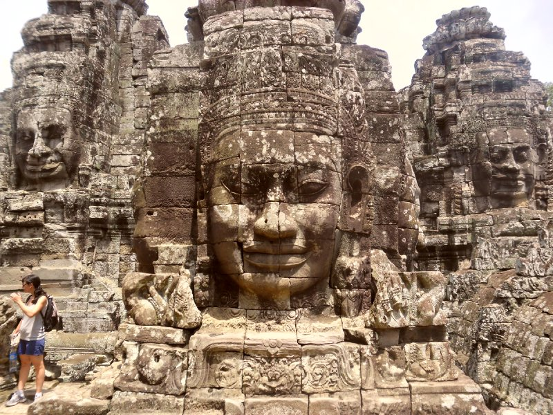 Faces in the Bayon, Angkor Thom