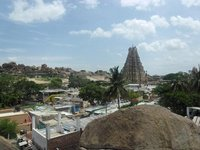 The view of Hampi Bazaar