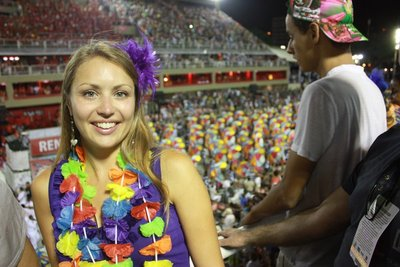 Jayne at Carnaval, Sambadrome, Rio de Janeiro