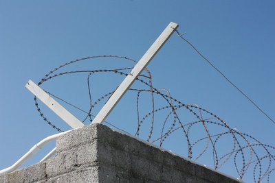 Barbed wire, Robben Island, South Africa