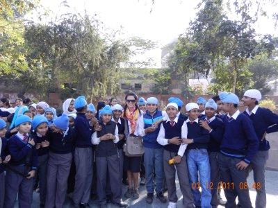 friendly school children