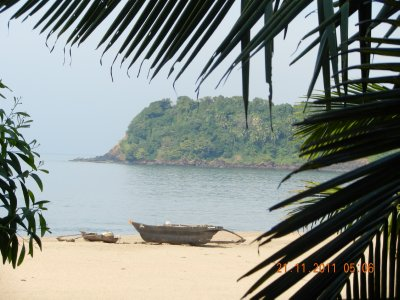 view from hut agonda white sands