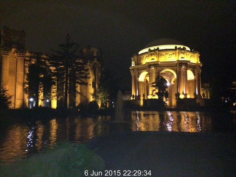Palace of Fine Arts Theatre at night