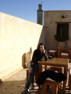Tea on the roof of a mueseum in Fes