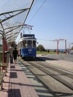 Beachfront trolley car, La Coruna