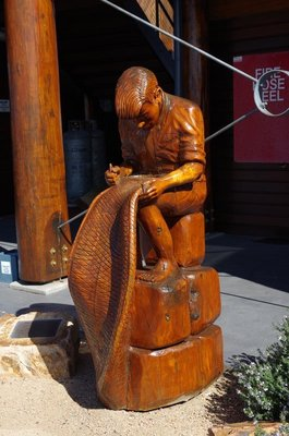 Carving at Bermagui Fishermans Wharf.