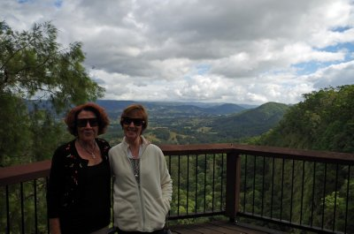 Di and Donna at the Mapleton Falls Lookout