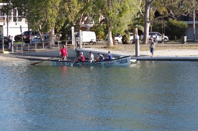 Burleigh Heads boat crew - I think they need the practice