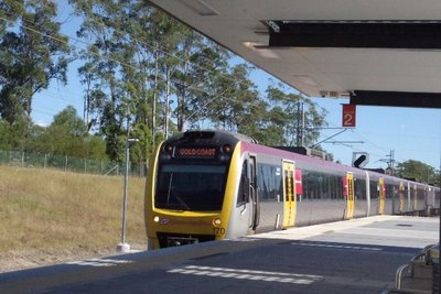 Gold Coast train arrives from Brisbane