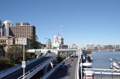 Looking downriver from the Victoria Bridge