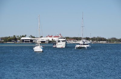 Yachts on the Broadwater