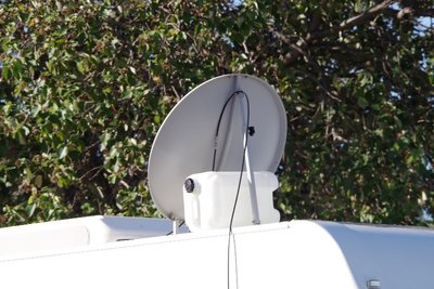 A budget roof mounted satellite dish