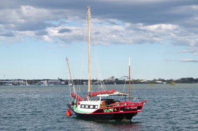 The Hai Yong at anchor