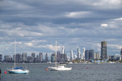 Getting cloudy over Surfers Paradise