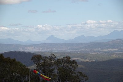 The windsock is for the Canungra Gliding Club - no gliding today however