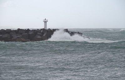 Waves breaking at the Seaway