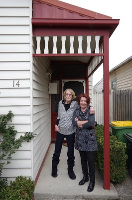 Louise with Di at her front door