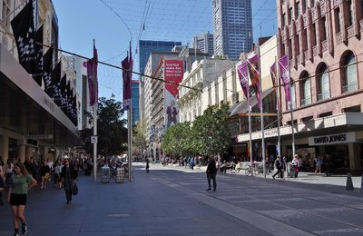 Bourke Street Mall in Melbourne