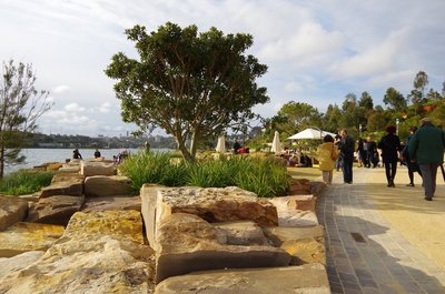 The Barangaroo development has made extensive use of cut stone blocks