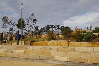 Sydney Harbour Bridge coming into view