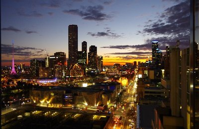 Sunset in Melbourne