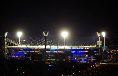 MCG lit up for an AFL Game